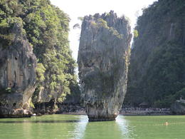 The boat drives right next to James Bond Island. , Lauren - December 2013