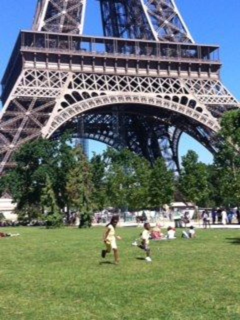 Kids and the Eiffel Tower - Paris