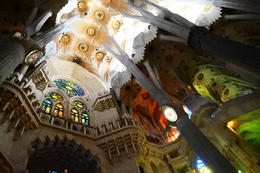 The light in the Sagrada Familia is just wonderful , Jim I - September 2016
