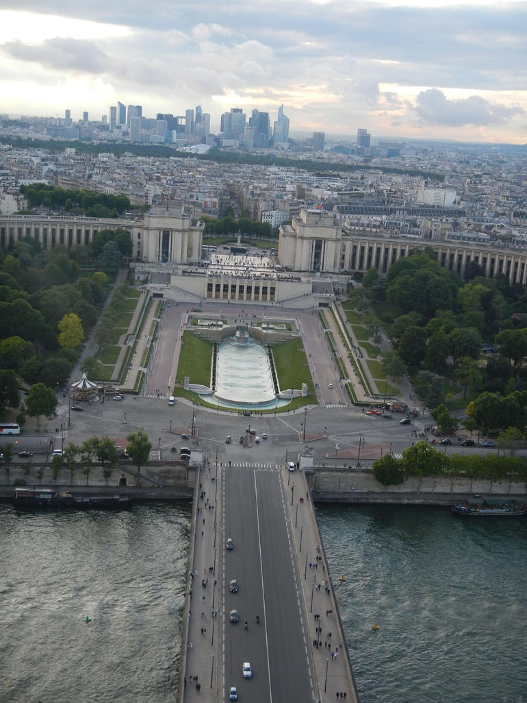 May 26 2014 view from the Eiffel Tower at Sunset - Paris