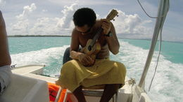 A little music while we travel to our next snorkel spot. , Merrilyn G - May 2015