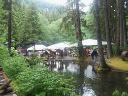 The setting for the salmon bake was beautiful. , Barbara M - June 2013