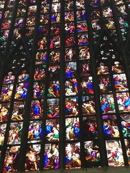 The stained glass windows inside the Milano Duomo were truly magnificent. , skrishnan07 - August 2016