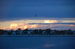 A view of private residences just off the northwest corner of Key West at sunset. , Nicholas C - October 2016