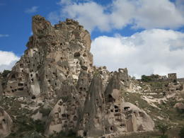 Hugh rock formation, carved with so many houses, Patricia P - July 2014