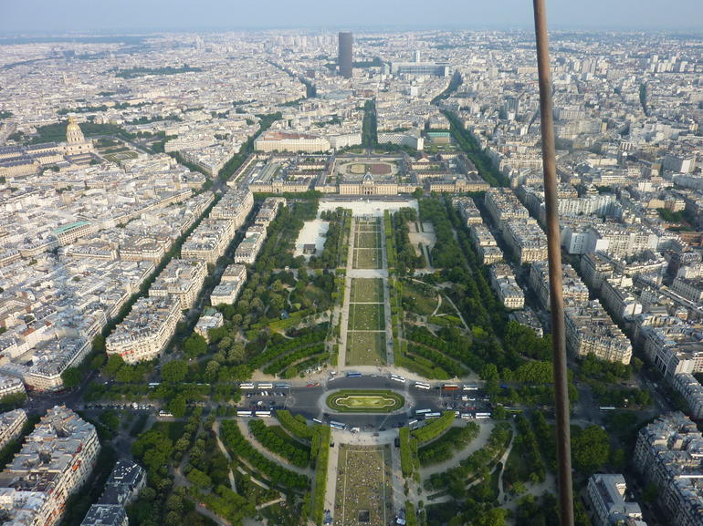 View from the top of the Eiffel Tower - Paris