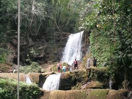 Small portion of YS Falls, it's absolutely priceless to stand at the bottom and look up!, Brenda N - April 2008