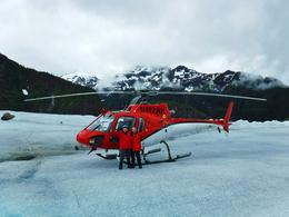 Us on Herbert Glacier with helicopter. , DesertAce - September 2017