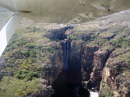 nice waterfall from the sky , Frederic S - July 2011