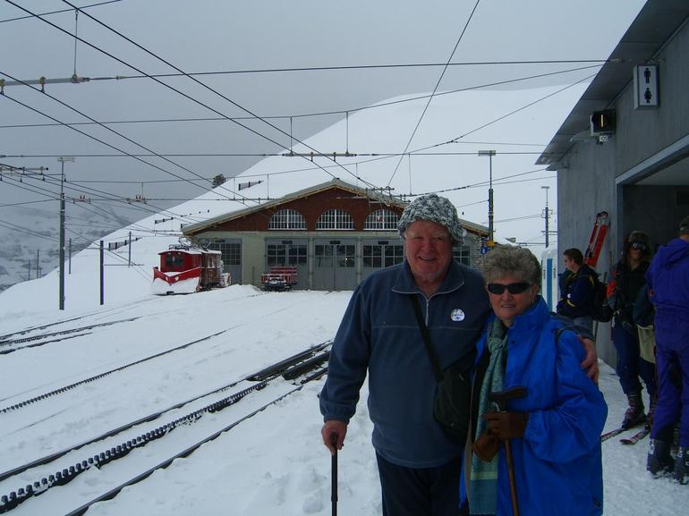 Brian and Margaret have made it to the top - Lucerne