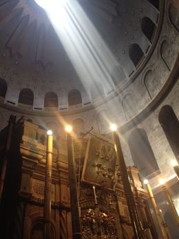 Via Dolorosa in Old Jerusalem, Cat - May 2015