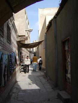Looking down the street during the tour of Coptic Cairo, Cynthia S - January 2009