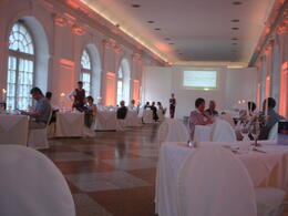 Dinner in the ballroom was exquisite with the staff all in period costume , Marcia S - July 2013