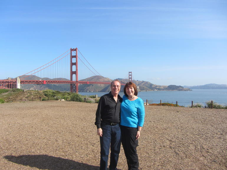 Great photo op before crossing the Golden Gate - San Francisco