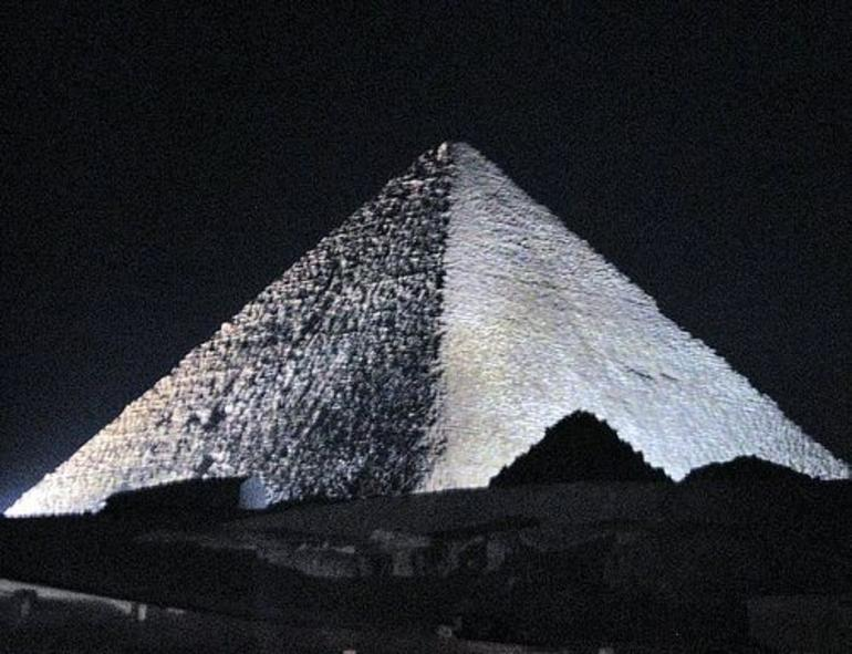 Great Pyrmaid at Night - Cairo