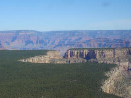 You fly over some forest before you get to the canyon, but once you do - oh boy! Incredible..., World Traveler - June 2011