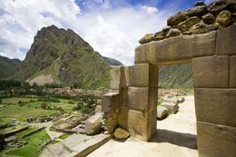 Incan ruins of Ollantaytambo, Peru - June 2011