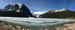 Lake Louise form the rear of The Fairmont Chateau Lake Louise , Barbara V - May 2016
