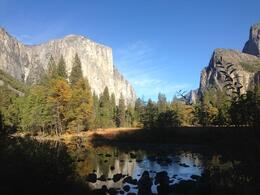 Evening sets as shutterbugs capture El Capitan and the Merced River. , Erue - January 2013