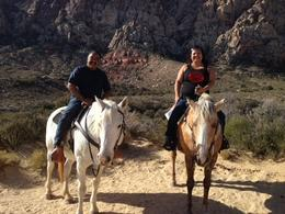 Ruth and Mark, celebrating our 25th Wedding Anniversary on the Redneck Canyon Spanish Trail. , Mark C - November 2013