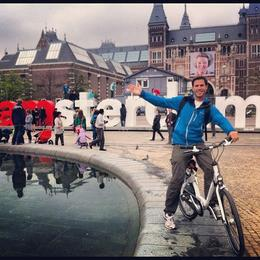 Riding around Amsterdam on a bike!, Ryan & Asha - September 2012
