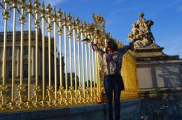 Catching the last rays of sun as it illuminates the gates of Versailles. , Naomi H - November 2016