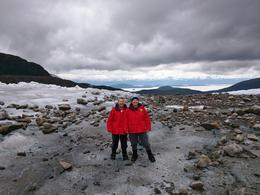 Us on Herbert Glacier moraine. , DesertAce - September 2017