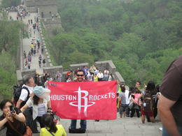 Me at the Great Wall - Go Rockets! , Paul M - June 2013