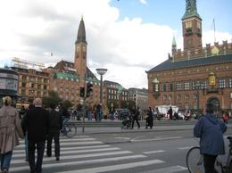 Busy Street in Copenhagen - March 2012