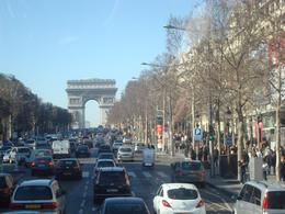 Touring through one of Paris's famous shopping strips, Rosita B - February 2008