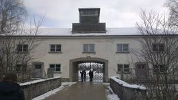 Entrance to Dachau Memorial Site , James C - February 2015