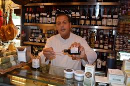 He gave us samples of Balsamic vinegars to tastes. Amazing! , J-Bird - October 2014