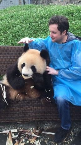 Here is during the Panda holding session! , Marco D - June 2016