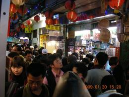 It was surprising me to see the Jiufen Village was very very crowed with tourists enjoying snacks and food there., KAI LEUNG T - February 2009