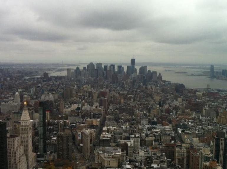 Observation deck at 85th floor of Empire State Building - New York City