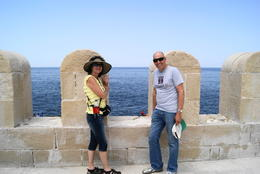 My wife and I in Alexandria at the fort , John g K - May 2011