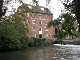 This pub is a converted historic Mill with a picturesque riverside setting and large beer garden. There is a working water wheel still inside the pub., Tighthead Prop - October 2010