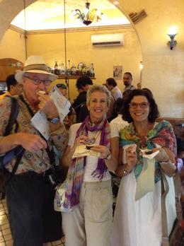 Nigel Chesterfield Evans, Sissy Weisbrook and Alana Chesterfield Evans enjoying true tiramisu. , Ronald W - October 2014