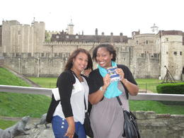 Showing off our London Pass which we used a lot! , Nikki H - July 2012