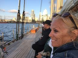 Hilary enjoying our day on the water. , Gary W - October 2017