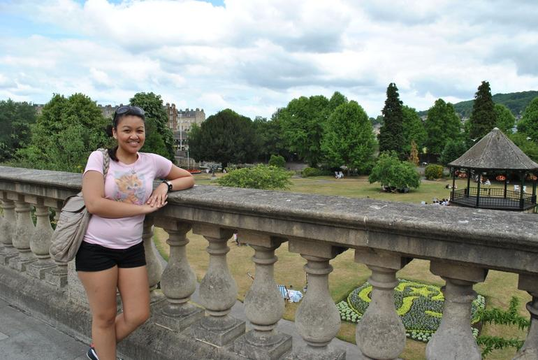 An Australian tourist overlooking Bath's Palace Gardens - London