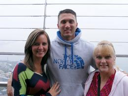 Left to right, my sons girlfriend Chelsey, my son Cody - stationed at Ft.Lewis and me, Sara Beth. Enjoying the view ! , Sara F - January 2015