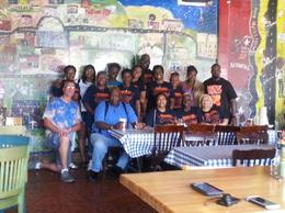 Burris Family Reunion members at Central BBQ , denise - September 2014