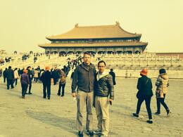 photo with tour guide in the Forbidden City , Thomas F - March 2014