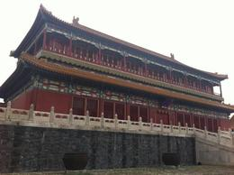 Front gate outside the Forbidden City., Julie - June 2012