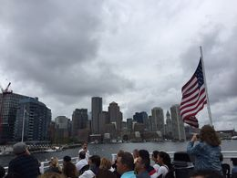 The view of Boston from the harbor cruise , Stephanie R - August 2016
