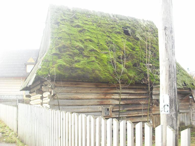 Old wooden house in mountain region - Krakow
