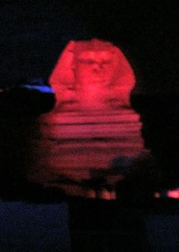 The Sphinx, lit up. - May 2008