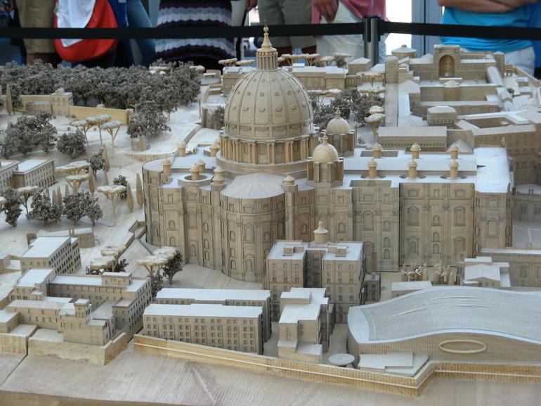 Scale model of St. Peter's Basillica - Rome