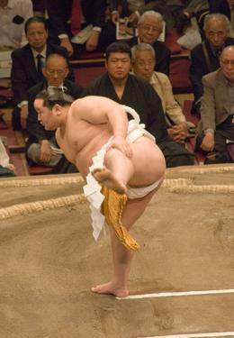 A show of strength at the Tokyo Tournament. Sunrise Sumo Wrestling Tour., Justin S - May 2008